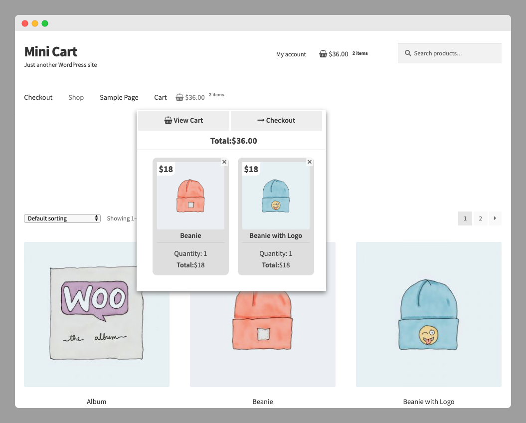 WooCommerce Mini Cart